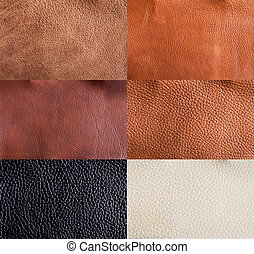 Leather textures collection - collection of leather textures...