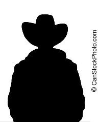 Cowboy - Illustrated Silhouette of a cowboy