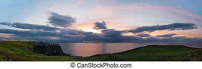 Panoramic view from Dunluce Castle