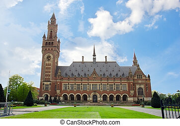 Peace Palace in The Hague, Holland - Peace Palace in The...