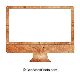 Computer display paper craft