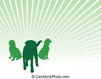 dog silhouettes - dog silhouette background