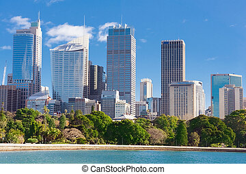 Sydney view at the noon - skyline of Sydney with city...