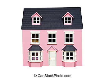House - Beautiful house isolated on the white background