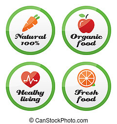 Organic food, fresh and natural pro - Healhy living and...