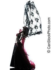 arabic woman belly dancer dancing - one arabic woman belly...