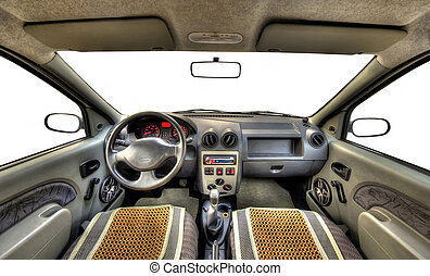 car interior - wide car interior with isolated windows for...