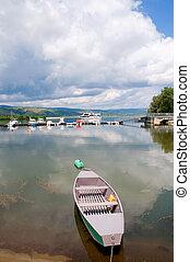 Danube - Boats at Danube, near to Silver Lake Srebrno...