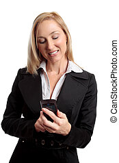 Female using mobile phone - Female using a mobile phone eg...