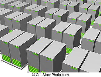 Server Clusters For Data Warehousing Clip Art Isolated
