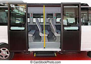 Mini bus - Regional mini bus with open double doors