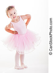 Stretching - The little ballerina getting ready for class