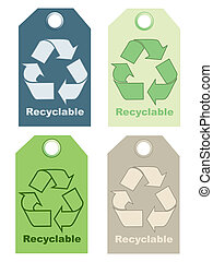Recycle signs illustration