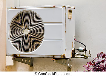 Air conditioning unit sitting outside