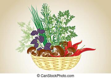 Fresh ingredients - healthy food