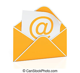 E-mail envelope - 3D illustration of e-mail envelope on...
