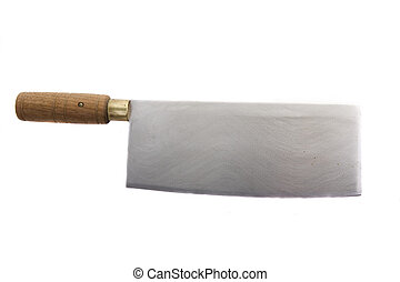 Cleaver - A chinese cleaver on a white background