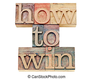 how to win in letterpress wood type