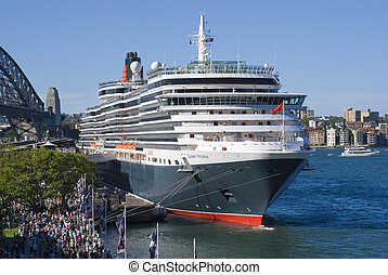 Ship Queen Victoria Boat - Cruise ship Queen Victoria of the...