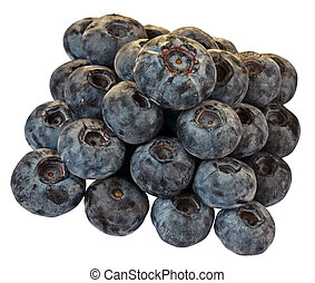 Huckleberry - Stack group of huckleberry fruits. Isolated on...