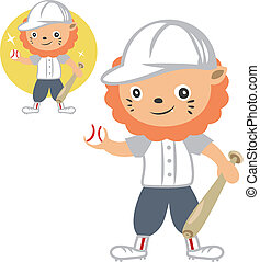 lovely lion baseball player