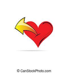 heart with an arrow vector