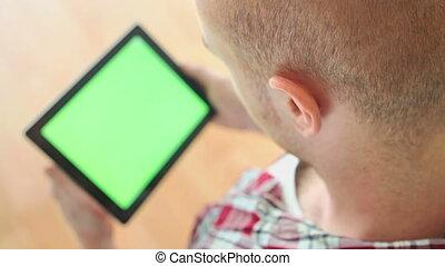 Watching green screen