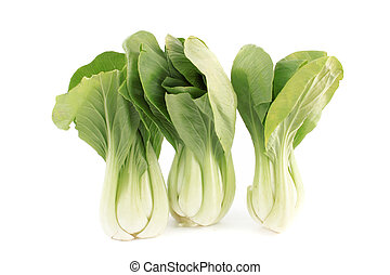 Bok choy - Bunch of Bok choy cabbage  on a white background
