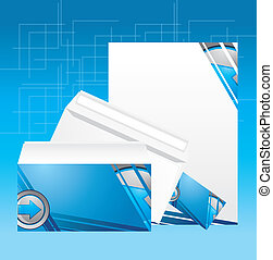 Corporate identity style Vector illustration