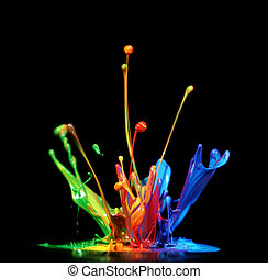 Paint splash - Colorful paint splashing