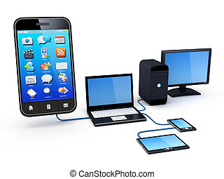 Home Network - Smartphone and Home Electronic Devices...