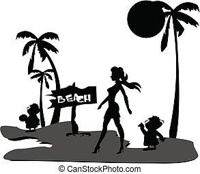 hollywood diva on beach