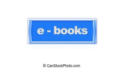 E-books. - Illustration of a button to e-books site.