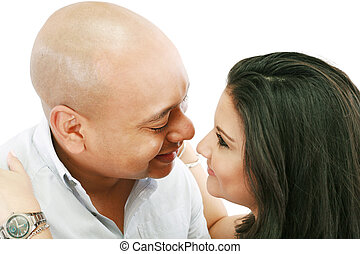 Couple looking lovingly at each other