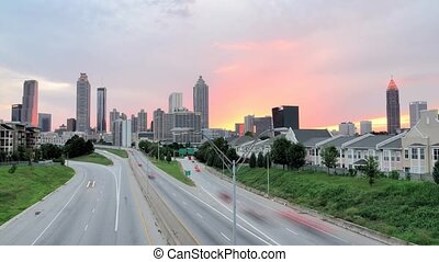 Downtown Atlanta - Downtown skyline of Atlanta, Georgia,...
