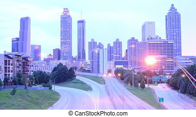 Atlanta Georgia Time Lapse - Freedom Parkway in Atlanta,...