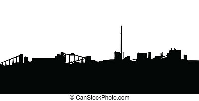 Mining Industry Silhouette