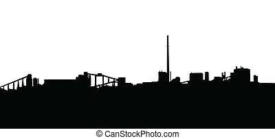 Mining Industry Silhouette - Mining Industry Horizon...