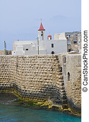Acre - the mediterranean historic city of Acre in north...