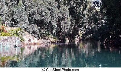Jordan river tranquil landscape view