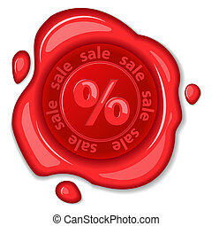 Sale wax seal EPS 10 vector illustration