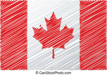 Canadian flag, vector illustration