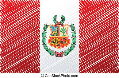 Peruvian flag, vector illustration