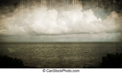 Abstract Time Lapse Clouds and Sea