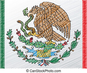 Coat of arms, Mexico, vector illustration