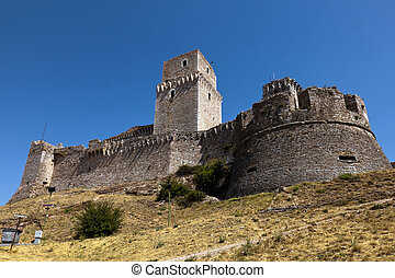 The imperial fortress Rocca Maggiore on top of the hill...