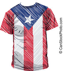 Puerto Rico tee, vector illustration