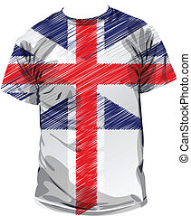 British tee, vector illustration