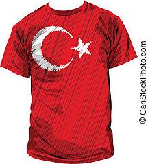 Turkish tee, vector illustration