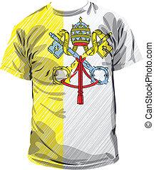 Vatican tee, vector illustration